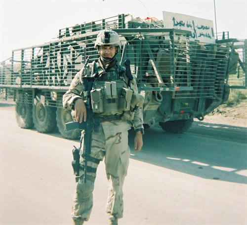 Sgt Christopher Keyes Scott in Iraq