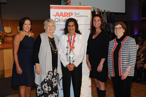 Mary Tselee with AARP Personnel