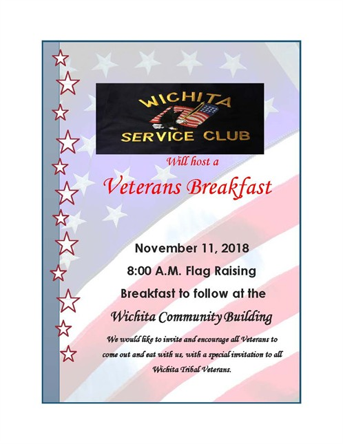 Veterans Day Breakfast 2018