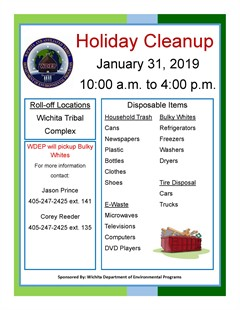 WDEP Holiday Cleanup