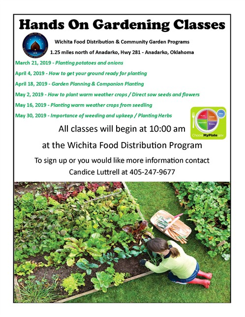 2019 Community Garden Course Schedule