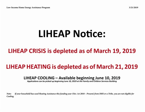 LIHEAP Heating Notice March 2019