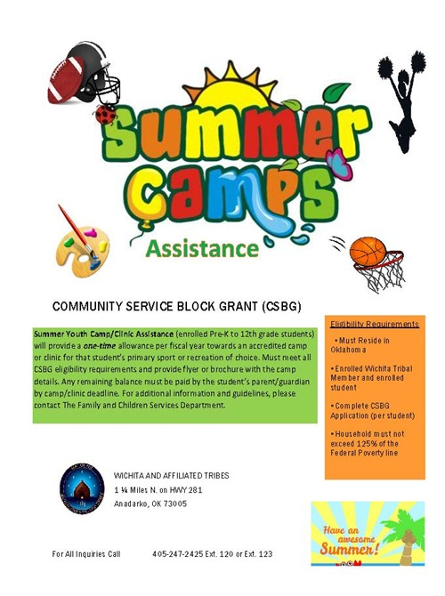 2019 CSBG Summer Camp Flyer
