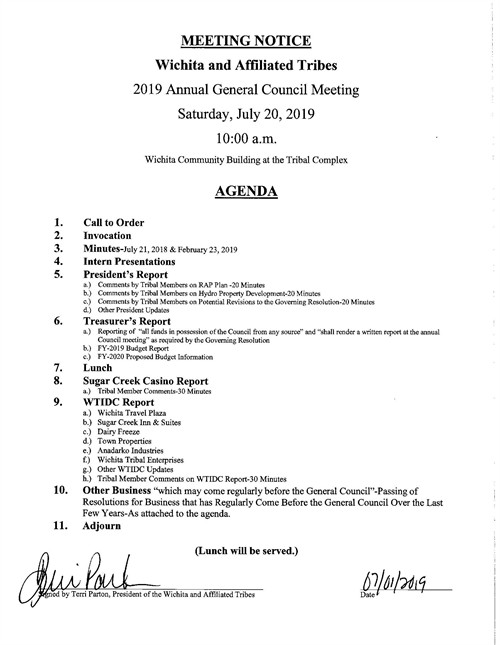 Annual Meeting July 2019